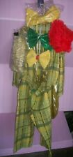 Vintage Circus Carnival Clown Costume Theater Halloween Adult Large