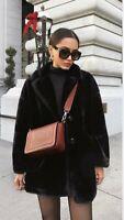 Zara Faux Fur Coat Size Small