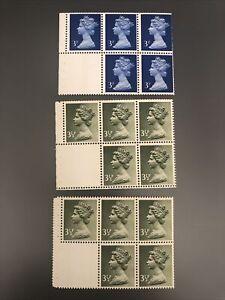 Royal Mail 1971 MNH 3*Bklt Panes of 5+labels SG USB42 & 43 Cat val £40