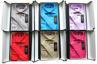 Boys New Shirt & Tie Set Formal Party Shirt Shiny Boxed Long Sleeved Ages 1Y-15Y
