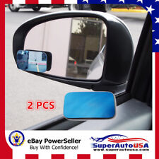 Blue Tint Blind Spot Mirror Wide Angle Rear View Car Side Mirror for Cadillac