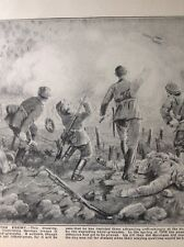 52606 ephemera 1916 Book Plate Ww1 British Bayonet Attack German View