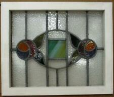 """OLD ENGLISH LEADED STAINED GLASS WINDOW Lovely Double Rose Design 21.25"""" x 17.5"""""""