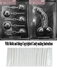CURVED, LARGE Adult Chocolate Candy mold and Boobs candy mold+50 sticks