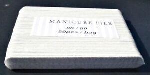 "Zebra white  Disposable  Nail Manicure files,  4"" x .5, choose quantities"