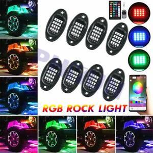 8X LED Car Underbody Light RGB Neon DRL Driving Lamp 12V Bluetooth APP & Remote