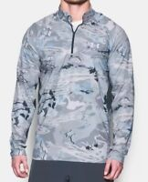 $65 Under Armour Thermocline 1/4 Zip Pullover Men's 2XL Blue Camo 1271470 NWT