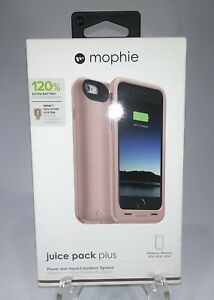 Mophie Chrome Pink Juice Pack Plus External Battery Case For Apple iPhone 6 & 6s