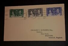 Used Gibralter 1937 First Day Cover.