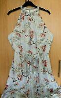 Ted Baker Elynor Oriental Blossom Maxi Dress Size 4 UK 14 US 10