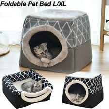 Soft Foldable Dog Cat House Tent Cave Removable Puppy Bed Pet Kennel Us Stock