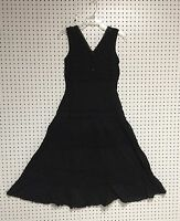 Ladies 100% Cotton Black Sleeveless Boho Peasant Crochet Lace Dress S -XL NWT.