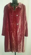 Anthropologie MAXOU 2-pc Bohemian Velvety Textured Fitted Long Coat & Dress Sz 4