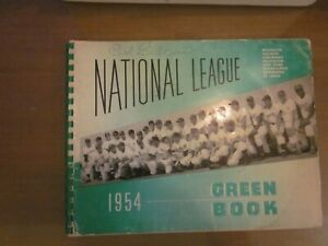 Original 1954 National League Green Book, Jackie Robinson, Stan Musial on Cover