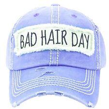 Adjustable Bad Hair Day Hat Cap Black Red Turquoise Blue Khaki Tan Pink Purple