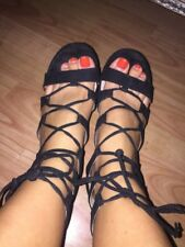 Well Worn Ladies Sandals - Used Shoes From Topshop Size 3-4 Women's