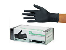 Einweghandschuhe Einmalhandschuhe Nitrilhandschuhe 100 Stück Box Gr M schwarz