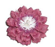 Fleur en tissus rose N°5, accessoire de mariage