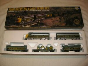 """JOHN DEERE ATHEARN HO SCALE ELECTRIC TRAIN SET SEALED IN BOX 1998 TWO """"D""""  #2"""