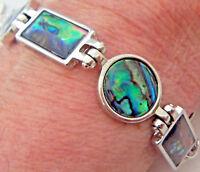 PAUA Shell abalone Nature's 1 Link Bracelet Linked Wheeler Mfg. lkb 001