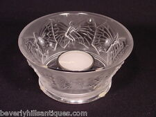 Lalique Crystal Candle Holder Sylphide Clear Style #1093900 NIB MSRP