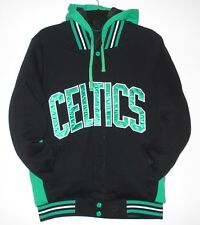 SIZE  L NBA BOSTON CELTICS REVERSIBLE FLEECE JACKET WITH REMOVABLE HOODIE L