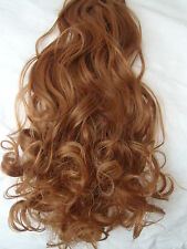 """24"""" Clip in Hair Extensions Wavy Curly Medium Auburn #30 One Piece 5 clips"""