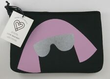 Love Bravery Lady Gaga Zipper Black Wristlet Clutch Pink Hair Silver Sunglasses
