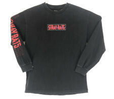STRAY RATS Rare Vintage Long Sleeve T Shirt Logo Black Grunge Skate Tee