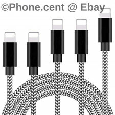 3 PACK - 6FT iPhone Lightning USB Cable Braided Heavy Duty Charging Cord