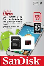 SD Card Sandisk 128GB Micro SDXC Class 10 Extreme Phone Camera Memory Samsung