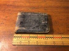 Vintage Black Folding Men's Wallet, Tooled Design , Bit Used Shabby