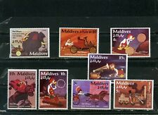 "MALDIVES 1995 DISNEY ""DONALD AND THE WHEEL"" SET OF 8 STAMPS MNH"