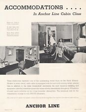 Anchor Line Cabin Class Features - complete set of 10 in original cover - 1939