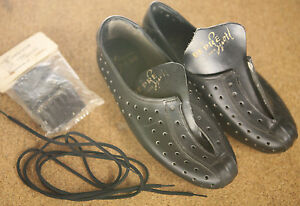 Vintage NOS NEW Depre perforated leather road cycling shoes w. cleats L'eroica