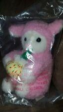 "SWEET DREAMS soft plush lamb sheep PINK VINTAGE LOVEY 1994 New in bag 8"""