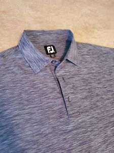 FootJoy FJ mens golf polo shirt XL Blueish Gray Slate short sleeve poly stretch