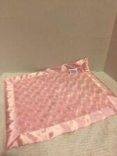 swankie blankie baby Girl Pink Satin Fur Security Blanket  Soft Infant Newborn