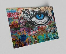ACEO Don't Let Us Dream Graffiti Art on Canvas Giclee Print