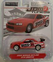 Jada 2018 Metals JDM Tuners 2002 Nissan Skyline RS-R 1:64 RED (BNR34)