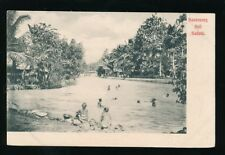 Dutch East Indies BUITENZORG Kali Sedani natives bathing in river c1902 u/b PPC