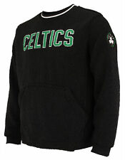 FISLL NBA Men's Boston Celtics Moto Sherpa Crew Neck Sweatshirt