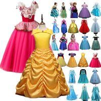 Girls' Clothing Princess Belle Cinderella Kids Costume Party Dress Up Fairytale