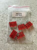 Motorcycle Standard Electrical Blade Fuses  - RED -  TEN AMPS 10A