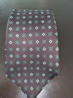 Kiton Silk Tie (brown with green pattern)