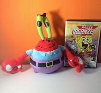 Spongebob dvd Pazze Vacanze + peluche: Mr. Krab 20cm circa