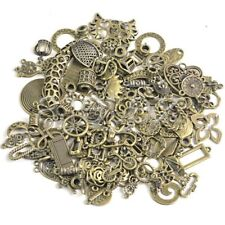 Random Mixed Vintage Brass DIY Jewelry Beads Charms Pendants Connector 50g SC20
