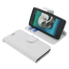Funda Para ZTE Kis 3 Max Book Style Protección Funda Teléfono Móvil Libro Blanco