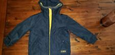 Gap Kids Navy Blue Yellow Fleece Lined Winter Rain Jacket Coat XS