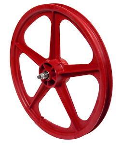 """Skyway BMX Wheel - Tuff II Rear Wheel - 5 Spoke - 20"""" x 1.75"""" - Red"""